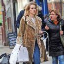 Suki Waterhouse in Animal Print Coat – Shopping in Notting Hill