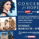 Selena Gomez and Jonas Brothers Concert For Hope Ticket Giveaway