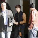 Justin Bieber arriving at a Los Angeles studio for a photo shoot.February 27, 2012
