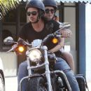 Lily Collins and Matt Easton Motorcycle Ride in Beverly Hills, CA (October 1st, 2014)