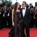 Brad Pitt hits the red carpet with Angelina Jolie, at the premiere of his new movie, The Tree of Life, during the 2011 Cannes Film Festival on Monday (May 16) in Cannes, France