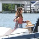 Brooke Burke in Pink Swimsuit – Celebrates her birthday on a yacht in Miami - 454 x 319