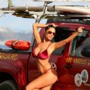 Charlie Riina in Red Bikini – 138 Water Photoshoot in Malibu - 454 x 705