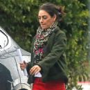 Mila Kunis in Red Pants – Out in Los Angeles - 454 x 568