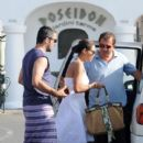 Rosario Dawson Leaves The Poseidon Restaurant With Bf