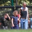Nicole Richie is spotted taking her children Sparrow and Harlow to the Kidspace Children's Museum in Pasadena, California on July 22, 2015 - 454 x 337
