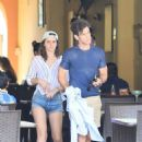 Emma Watson in Denim Shorts with Brendan Wallace on vacation in Mexico