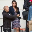 Lea Michele on set of 'Untitled City Mayor Project' in LA - 454 x 624