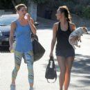 Ashley Greene Stops By Cara Santana's House