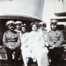 Nikolai Pavlovich Sablin with Grand Duchesses and officers of the Imperial yacht