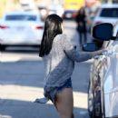 Ariel Winter in Denim Shorts – Leaving studio in LA