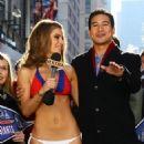 Maria Menounos Loses Bet, Wears Giants Bikini in NYC