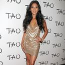 Nicole Scherzinger seen arriving to celebrate her birthday at the Tao nightclub at The Venetian Casino in Las Vegas