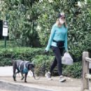 Courtney Thorne-Smith – Out for a dog walk in Brentwood - 454 x 332