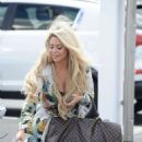 Bianca Gascoigne and boyfriend CJ Meeks Arrives at the airport in London - 454 x 637
