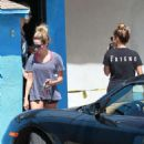 Vanessa Hudgens Ashley Tisdale Leaving Wundabar Pilates In Studio City