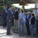Queen Letizia and King Felipe visit Porenu village, Villaviciosa - 454 x 302
