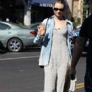 Behati Prinsloo in Long Dress – Out in Los Angeles