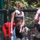 Nicole Richie is spotted taking her children Sparrow and Harlow to the Kidspace Children's Museum in Pasadena, California on July 22, 2015 - 454 x 543
