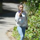 Chantel Jeffries – In yoga pants seen after gym in Los Angeles - 454 x 619