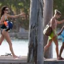 Kendall Jenner and Hailey Bieber and Justine Skye – On a boat in Jamaica