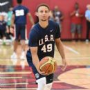 Stephen Curry #49 of the 2015 USA Basketball Men's National Team attends a practice session at the Mendenhall Center on August 11, 2015 in Las Vegas, Nevada