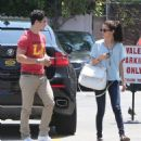 Selena Gomez and actor David Henrie out on a lunch date at Kabuki in Hollywood, California on June 8, 2013 - 454 x 509