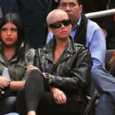 Amber Rose Supporting Boyfriend Amar'e Stoudemire at The Boston Celtics Vs New York Knicks Game at Madison Square Garden in New York City - December 15, 2010 - 414 x 600