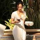 Draya Michele – With her boyfriend Tyrod Taylor at the Four Seasons in West Hollywood - 454 x 808