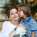 Olga Budina and her son - 350 x 525