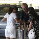 Salma Hayek's Weekend Tennis Outing with Francois