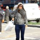 Helena Christensen Out in the West Village