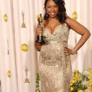 Best Supporting Actress winner Jennifer Hudson with her statuette at the 79th Annual Academy Awards - 454 x 764