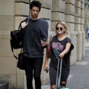 Lucy Fallon in Ripped Jeans – Out in Manchester - 454 x 679