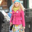 ANNASOPHIA ROBB on the Set of The Carrie Diaries in New York