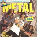 Rich Robinson, Chris Robinson, Johnny Colt - Blast Metal Magazine Cover [United States] (March 1990)