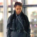 Rihanna on the set of 'Oceans Eight' spotted filming scenes at Times Square building in Midtown Manhattan, New York City December 10, 2016 - 420 x 600