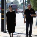 Kat Von D in Long Black Dress – Out and about in Los Angeles - 454 x 527