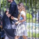 Megan Fox and Josh Duhamel – Shooting a scene for 'Think Like a Dog' in New Orleans - 454 x 681