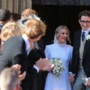 Ellie Goulding at her wedding to to Caspar Jopling in York - 454 x 302