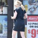 Kirsten Dunst at liquor store in Los Angeles