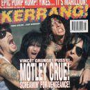 John Corabi, Nikki Sixx - Kerrang Magazine Cover [United Kingdom] (19 February 1994)
