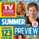 Aaron Paul, Bryan Cranston, Alyssa Milano, Michael C. Hall, Poppy Montgomery, Alexander Skarsgård, True Blood - TV Guide Magazine Cover [United States] (3 June 2013)