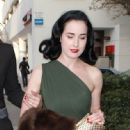 Dita Von Teese: leave dinner at Caulfield's Restaurant at the Thompson Hotel in Beverly Hills
