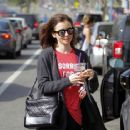 Lily Collins Leaves workout in Beverly Hills - 454 x 365