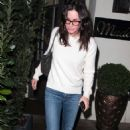 Courteney Cox – Arrives at Madeo restaurant in Los Angeles