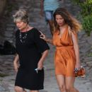 Laetitia Casta – Inaugurates Lumio's new gardens