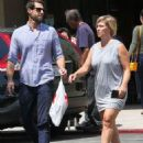 Jennie Garth and husband Dave Abrams g out shopping at Macy's in Los Angeles, California on August 26, 2016 - 454 x 578