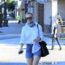 Kaley Cuoco – In jeans shorts out in Los Angeles