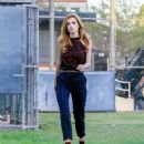 Bella Thorne Arriving at the 'Famous In Love' Set in Los Angeles 10/18/ 2016